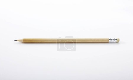 Photo for Closeup with pencil isolated on white background - Royalty Free Image