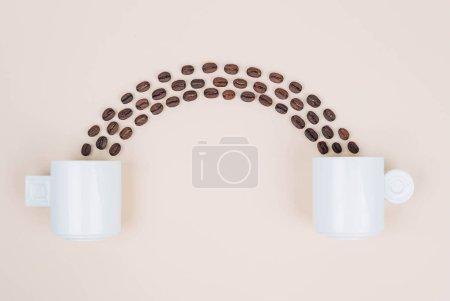 Photo for Stylish morning coffee setup. Creative minimal concept. - Royalty Free Image