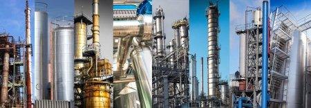 Photo pour A Silos métalliques d'une usine chimique - image libre de droit