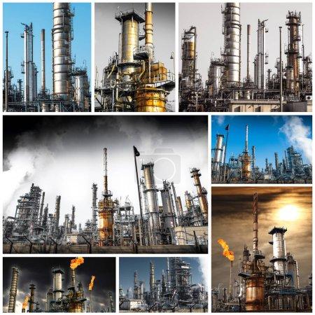 Photo pour Vue extérieure de l'installation de raffinage du pétrole - image libre de droit