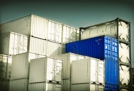 Photo for The Containers for freight transport - Royalty Free Image