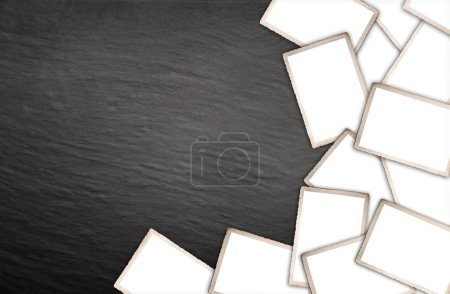Photo for Old photographs vintage wall background - Royalty Free Image