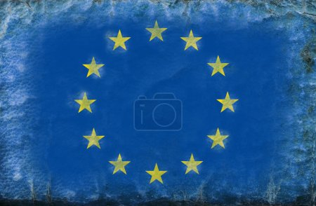 an Europe flag old style