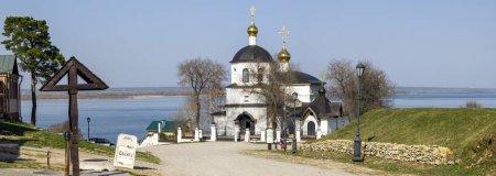 Island-town Sviyazhsk Church of Constantine and Helena. Panorama
