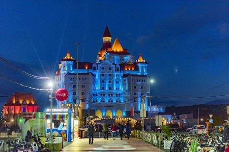 Photo for Big castle at night, beautiful architecture - Royalty Free Image