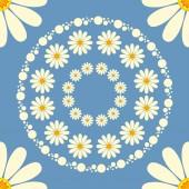 Chamomiles seamless pattern 02