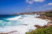 Rough seas by Bronte on the Coogee to Bondi coastal walk