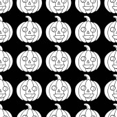 Halloween seamless pattern with pumpkin Scary coloring page for adults for october 31 Vector illustration