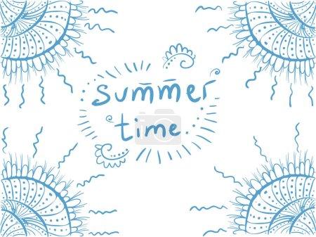Background decor shells card  Summer time