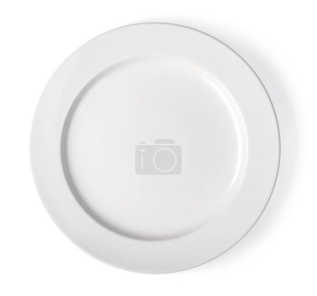 Photo for White plate on a white background - Royalty Free Image