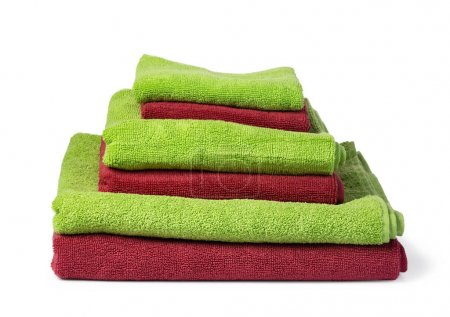 Photo for Bath towel isolated on white - Royalty Free Image