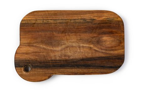 Photo for Wood cutting board isolated on white background - Royalty Free Image