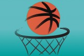 Logo basketball hoop vector image design