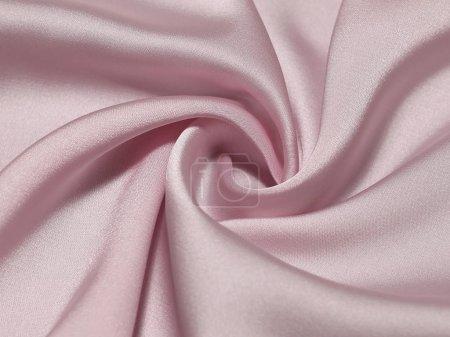 Foto de Vista de primer plano en trenzado de seda rosa - Imagen libre de derechos
