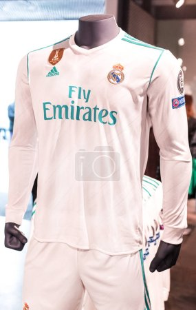 MADRID, SPAIN - 25 MARCH, 2018: Official clothing ...