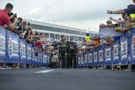 May 20, 2018 - Concord, North Carolina, USA: Jimmie Johnson (48) gets introduced for the Monster Energy All-Star Race at Charlotte Motor Speedway in Concord, North Carolina.