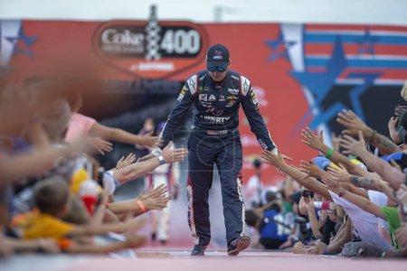 July 07, 2018 - Daytona Beach, Florida, USA: Alex Bowman (88) gets ready for the Coke Zero Sugar 400 at Daytona International Speedway in Daytona Beach, Florida.