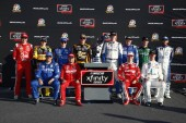 September 15, 2018 - Las Vegas, Nevada, USA: The NASCAR Xfinity Series playoff drivers pose for photos following the DC Solar 300 at Las Vegas Motor Speedway in Las Vegas, Nevada.