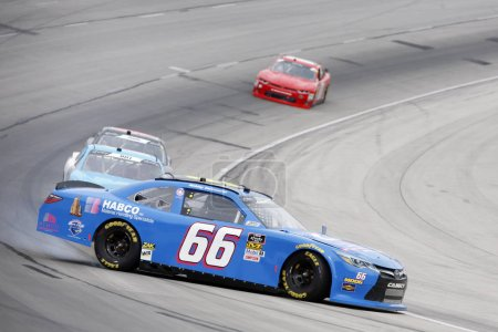 November 03, 2018 - Ft. Worth, Texas, USA: Bobby Earnhardt (66) loses control off turn four at the O'Reilly Auto Parts Challenge at Texas Motor Speedway in Ft. Worth, Texas.