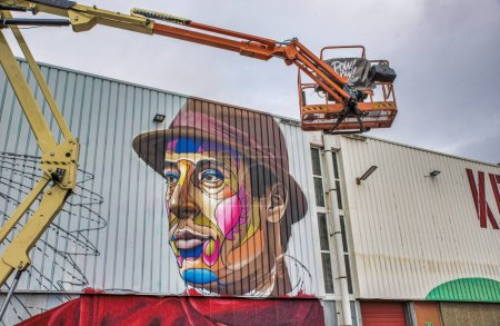 Rotterdam,Holland,15-sept-2018:artist paint brush ...