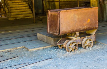Vintage Rusty Ore Cart Used In Mining Operations...