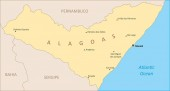Alagoas State region map