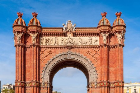 Arc de Triomf, Barcelona is a triumphal arch in th...