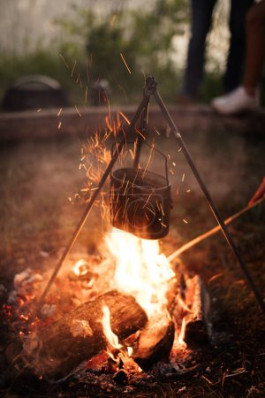 the flame of love. bonfire into a blaze