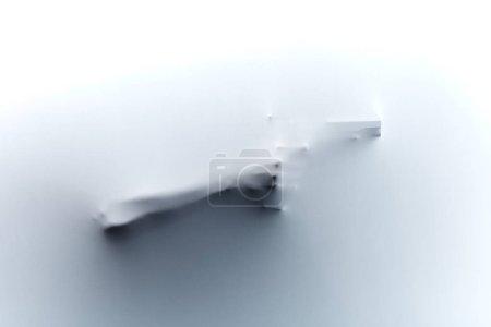 Photo pour Homme tenant un pistolet derrière le tissu, concept de mort.affreux offense. crime caché, grave, hideux. vie criminelle - image libre de droit