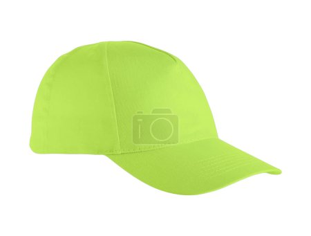 Photo for Green baseball cap isolated on a white background - Royalty Free Image