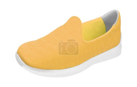 Colorful orange running and fashion sneaker shoe