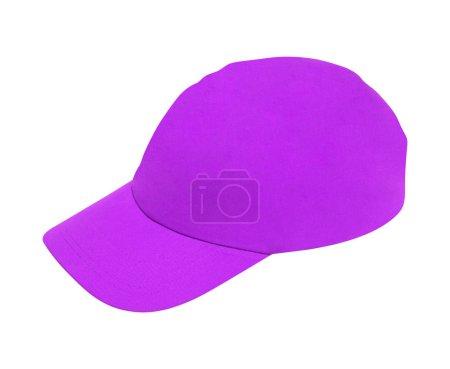 Photo pour Chapeau de baseball violet isolé sur blanc - image libre de droit