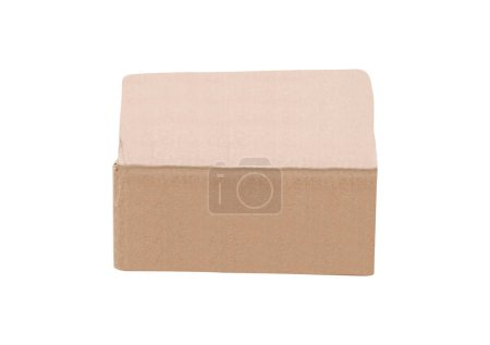 Photo for Cardboard box isolated on background - Royalty Free Image