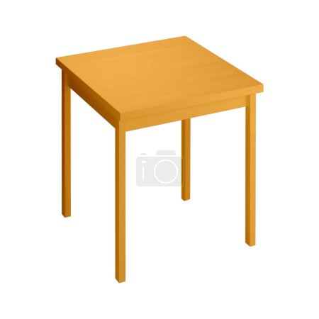 Photo for Isolated wooden stool on white - Royalty Free Image