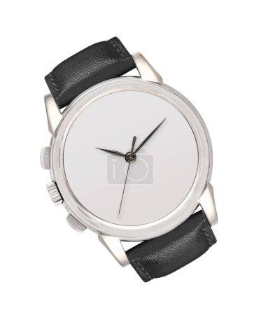 Photo pour Montre-bracelet argent isolé sur fond blanc - image libre de droit