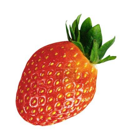 Raw strawberry isolated on white background