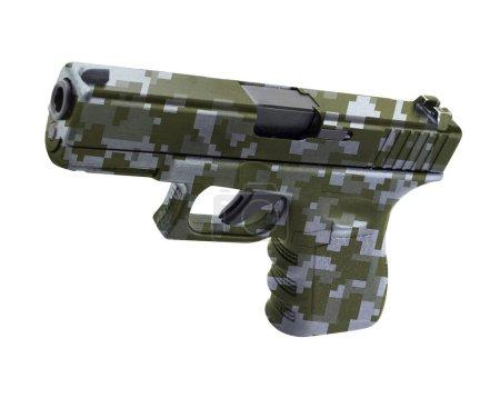 Glock automatic 9mm handgun pistol isolated