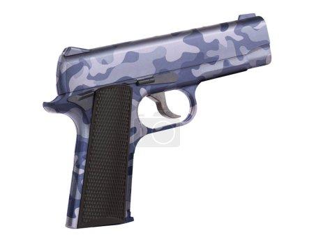 automatic 9mm handgun pistol isolated