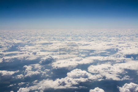 Photo for White fluffy clouds background - Royalty Free Image