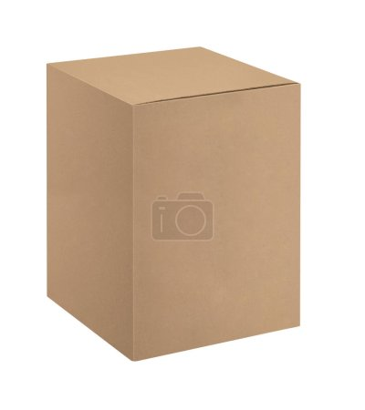 Closed Box Isolated On White