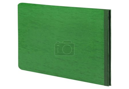 Closed green book, close up
