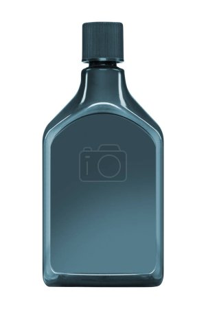 plastic jerrycan isolated on white, close up