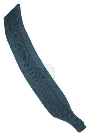 blue belt isolated on white, close up