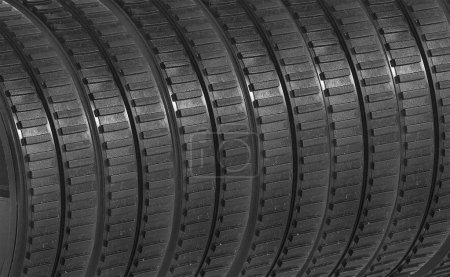 rubber tires background, close up