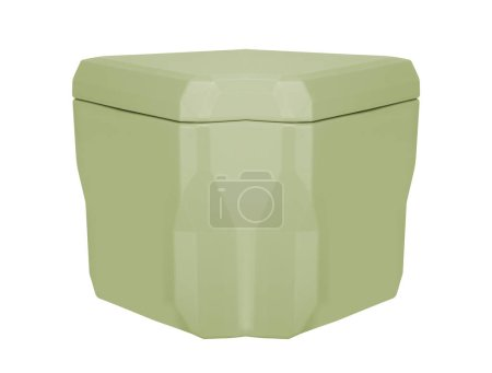 Photo for Plastic cooler box isolated, close up - Royalty Free Image