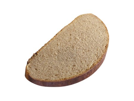 bread slice isolated on white background, close up