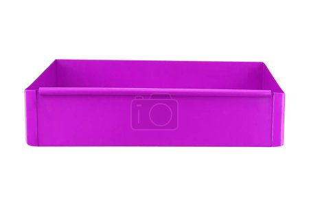 purple plastic food container isolated