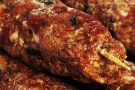 Meat background view, close up