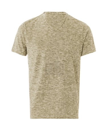 Photo for Short Sleeve T-Shirt Isolated On White - Royalty Free Image