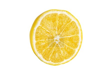 Photo for Juicy yellow slice of lemon, close up - Royalty Free Image